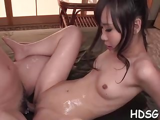 Asian student is getting her daily portion of penetrate, from a fellow she is yon enjoy forth