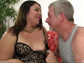 Mature BBW Gia Star gets pounded hard by an older guy