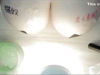 Chinese ASMR (oiled tits)