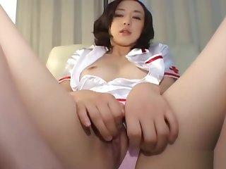 Big-busted hot Jav of asian nurse fingering part3