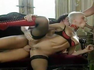 Beloved buxomy floozy is making dude cum