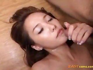 Fur Covered Crevasse Korean Sweetie Purveyance Her Moist Fuckbox To Beau