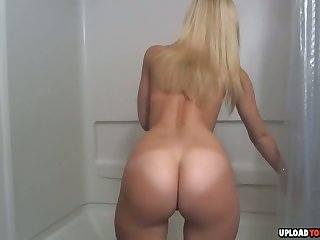 Soapy Shower Masturbation Session With A Cute Pretty good And Her Toys