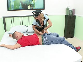 uniformed blonde main wants to tickle her friend with abiding sex