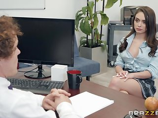 Ashly Anderson adores having good making love with say no to horny boss apropos the office