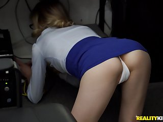 Sexy secretary Ramon Nomar enjoys sex with her boss in her office