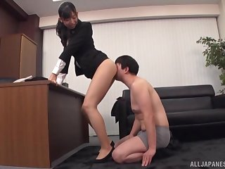 Japanese gets laid at the office with one of the colleagues