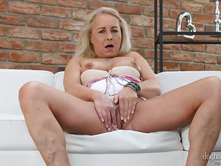 Naked mature women in sensual compilation of solo masturbation