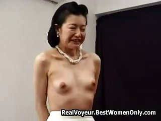 Petite Asian Japanese Granny Fucked Hither Toys 6