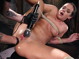 Torture master gets his hands mainly kinky brunette slut Roxy Raye