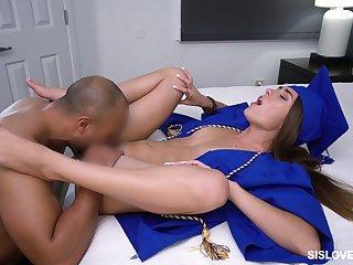 Horny and sexy alumni Mackenzie Baste is timepiece some hard dean