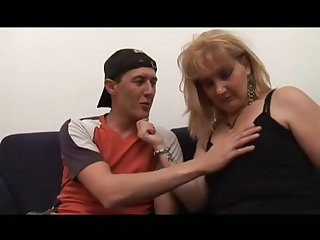 Milf Hairy Stepmom Helping Younger Cadger To Become A Man