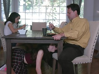 Jackie Rogen is heeding elder sister sucking stepdad's cock maudlin