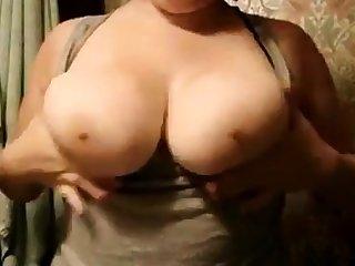 Chubby girlfriend big knockers