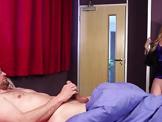 Clothed blonde MILF is set to demolish this dick