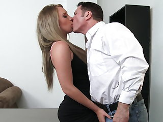 Sexy employee Harley Jade will put the finger on for healthier
