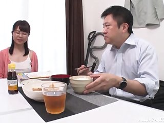 Busty Japanese wife still had time to fuck liking for a teen
